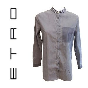 ETRO cotton blend pinstriped shirt